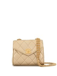 Chanel Vintage Quilted Cc Crossbody Bag Gold