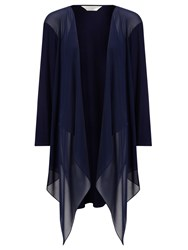 Windsmoor Chiffon And Jersey Mix Drape Cardigan Navy