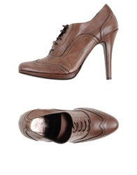 Marella Lace Up Shoes Khaki