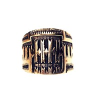 House Of Alaia All Around Me Peaceful Saddle Ring Antiqued Bronze With Clear Nano Coating