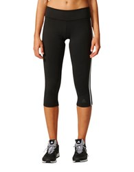 Adidas Capri Leggings Black White