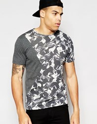 Another Influence Big Floral Cut And Sew T Shirt Grey