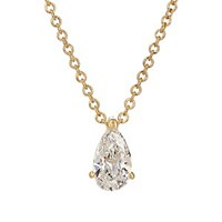 Ileana Makri Teardrop Pendant Necklace Yellow Gold