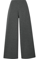 Mansur Gavriel Wool Blend Wide Leg Pants Charcoal