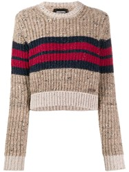 Dsquared2 Cropped Jumper Brown