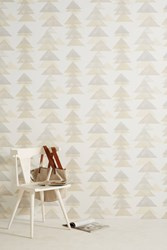 Dwellstudio Layered Triangles Wallpaper Neutral Motif