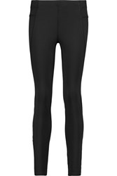 Theory Perforated Stretch Jersey Leggings Black