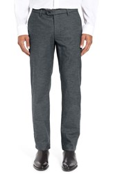Ted Baker Men's Big And Tall London Classic Fit Flat Front Trousers Charcoal