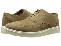 Hush Puppies Shiba Brogue Oxford Taupe Nubuck Lace Up Cap Toe Shoes
