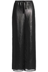 Bailey 44 Layered Coated Voile Wide Leg Pants Black