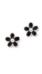 Marc By Marc Jacobs Daisy Stud Earrings Black Argento