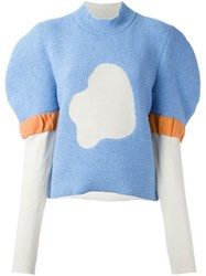 J.W.Anderson J.W. Anderson Puff Sleeve Jumper Blue