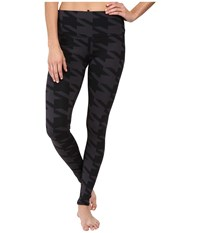 Alo Yoga High Waisted Airbrush Leggings Black Houndstooth Women's Casual Pants Multi