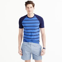 J.Crew Short Sleeve Rash Guard In Electric Navy Stripe