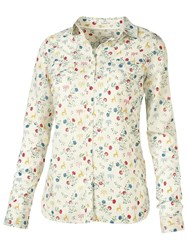 Fat Face Classic Fit Fable Print Shirt Ivory