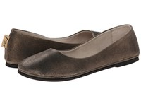 French Sole Sloop Flat Bronze Metallic Suede Flat Shoes