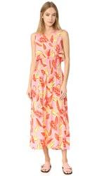 Boutique Moschino Sleeveless Print Dress Fantasy Print Pink