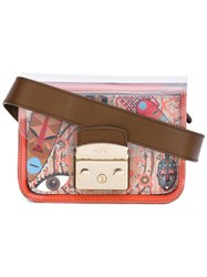 Furla Mini Metropolis Crossbody Bag Brown
