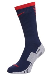 Nike Performance Stadium Crew Sports Socks Midnight Navy Pimento Dark Blue