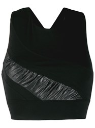 No Ka' Oi Criss Cross Back Sport Top Black