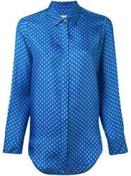 Alberto Biani Patterned Shirt Women Cotton 40 Blue