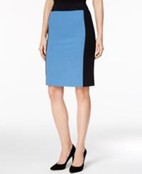 Nine West Colorblocked Pencil Skirt Space Blue