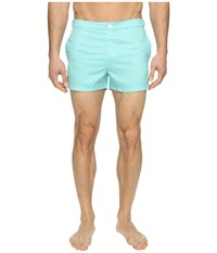 Original Penguin Mini Gingham Printed Bright Aqua Men's Swimwear Blue
