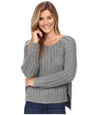 Kut From The Kloth Page Chunky Crew Neck Top Grey Women's Long Sleeve Pullover Gray