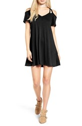 Socialite Women's Sofia Cold Shoulder Dress Black