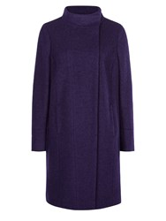 Planet Purple Boucle Coat Dark Purple