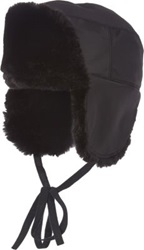 Albertus Swanepoel Faux Fur Lined Trapper Hat Black