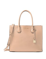 Michael Kors Mercer Large Convertible Leather Tote Oyster