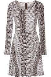 Michael Michael Kors Kobe Printed Stretch Jersey Mini Dress Brown