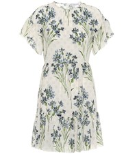 Red Valentino Floral Silk Minidress White