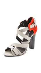 L.A.M.B. Korry Haircalf Sandals Grey