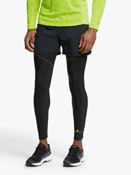 Ronhill Stride Winter Running Tights Black Fluo Yellow