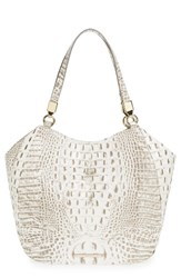 Brahmin Melbourne Marianna Leather Tote Grey Gravel