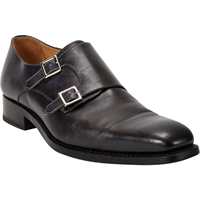 Harris Cap Toe Double Monk Shoes Black