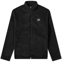 Fred Perry Borg Zip Up Fleece Jacket Black