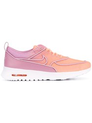 Nike Air Max Thea Ultra Sneakers Women Leather Acrylic Rubber 8 Pink Purple