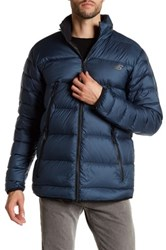 New Balance Quilted Puffer Hooded Zip Jacket Gray