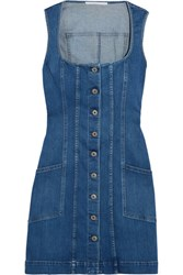 Stella Mccartney Denim Mini Dress Mid Denim