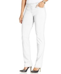Jm Collection Petite Slim Leg Pants Only At Macy's Bright White