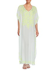 Saks Fifth Avenue Embroidered Maxi Dress Sky