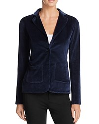 Majestic Filatures Velour One Button Blazer Marine