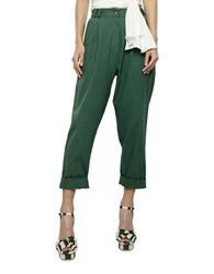 2Nd Day Cropped Cotton Pants Green