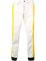 Palm Angels Zipped Cuff Jeans White
