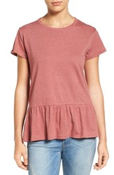 Caslonr Women's Caslon Peplum Tee Red Jelly