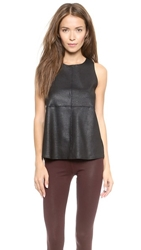 David Lerner Tank With Back Zipper Black