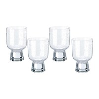 Pols Potten Ciro Glass Tumblers Clear Set Of 4
